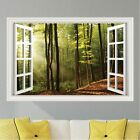 Trees Forest Sunlight Wall Decal Sticker Graphic Art Mural 4 Sizes Available