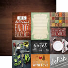 Paper House DELISH TAGS 12x12 Dbl Sided Printed Cardstock P 2025 3x4 4x6 Cards