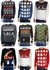 Christmas Xmas Jumper snowmen Santa Clause Retro vtg 80s ugly fairisle kitsch