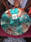 STUNNING Large 15 Turkish Art Glass Centerpiece Bowl Platter