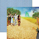Paper House WIZARD OF OZ SURRENDER DOROTHY 12x12 Dbl Sided Scrapbook 2pc Paper