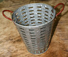 Galvanized Rustic Antique Style Metal OLIVE BUCKET Home Decor Harvest Basket 13