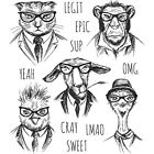 NEW Tim Holtz Stampers Anonymous HIPSTER Rubber Cling Stamp Set