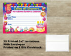 Shopkins Birthday Invitations 25 Cards With 25 Envelopes Free Shipping