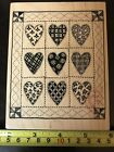 PSX Heart Quilt K 1414 rubber stamp NEW