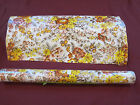 Vintage NEW 5 yd 31 Contact Adhesive Paper KWIK KOVER FLORAL EARTH Tones