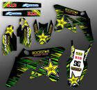 2013 2014 2015 2016 KXF 250 GRAPHICS KIT KAWASAKI KX250F BLACK ROCKSTAR DECALS