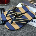 Men Summer Stripe Sport Casual Flip Flops Slippers Beach Slippers Sandals Shoes