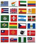 National flags emblem applique iron on patch choose from 24 countries FM 2