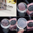 2pcs set Clear Jelly Stamper  Scraper W Cap Nail Art See Through Silicone Tool