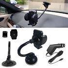 USB Car Charger + Gooseneck Mount Suction Holder For Samsung Sony Motorola Nokia
