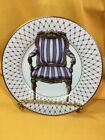 Fitz and Floyd Chaise IV Fine Porcelain Collector Plate Gold Trim French Chair