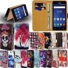 Leather Flip Card Wallet Stand Cover Case For Various Philip SmartPhones + Strap