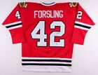 Gustav Forsling Signed Blackhawks Jersey (Beckett) Chicago Rookie Defenseman