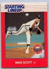 1988  MIKE SCOTT - Kenner Starting Lineup Card - HOUSTON ASTROS