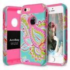iPhone 5S Case AnnBay For Apple iPhone 5/5S/SE Case Hybrid Cover Shock-Absorp...