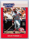 1988  DAVE PARKER - Kenner Starting Lineup Card - CINCINNATI REDS