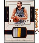 2016-17 Marc Gasol Panini National Treasures Century Material 3 Color Patch 25