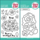 Avery Elle FLORAL BOUQUET Clear Stamps Only OR Clear Stamp and Die Bundle