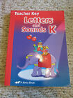 A Beka Letters and Sounds K5 Teacher Key Homeschool