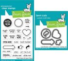 Lawn Fawn Push Here Clear Stamp LF1415 or Craft Die LF1416