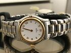 Ebel Women Mini Watch Two Tone Bracelet Stainless Steel / 18K Gold White Swiss