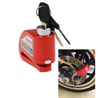 Red Metal Motorcycle Scooter Security Anti theft Wheel Disc Brake Lock Alarm Kit