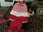 Girls adorable Specialty Baby ladybug dress size 18 Months checkered