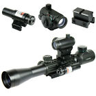 3 9X40 Illuminated Tactical Rifle Scope with Red Laser  5 MOA Dot Sight
