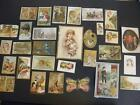 LOT 30 VICTORIAN TRADE CARDS  STOCK CARDS ALL DAMAGED FOR CRAFTS SCRAPBOOKING 2