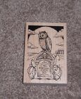 WOOD STAMP HALLOWEEN OWL OWL BE WATCHING OVER YOU