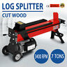 7 Tons Electric Hydraulic Log Splitter Wood Cutter Cut Wood Productive Durable