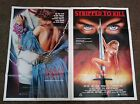 Killer Party Stripped To Killoriginal folded one sheet movie posters ex cond