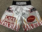 MANNY PACQUIAO ERIK MORALES DUAL SIGNED AUTO BOXING REPLICA SHORTS TRUNKS PSA 1