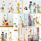 US Removable Height Chart Measure Wall Sticker Decal for Kids Baby Room Giraffe