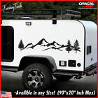 Mountain Decal Tree Forest Vinyl Graphic Custom Sticker Camper Rv Trailer Truck