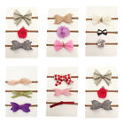 3Pcs Baby Toddler Kids Girls Flower Bow Headband Nylon Hair Band Accessories