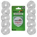 45 mm Rotary Cutter Blades Pack of 10 SKS 7 Carbide Tool Steel Fits Fiskars