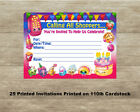 Shopkins Birthday Invitations Quantity of 25 Cards Free Shipping