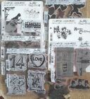 Tim Holtz Stampers Anonymous Stamp sets 999 your choice Free Shipping
