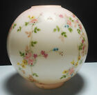 Petite Flowers Roses Daisies GWTW Parlor Banquet Oil Lamp Ball Shade 4 Fitter