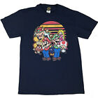 Fifth Sun Mens Nintendo Super Mario and Friends T Shirt Large Navy Sale