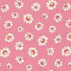 LECIEN RETRO 30S CHILDS PINK DAISY COTTON QUILT FABRIC BY 1 2 YD 31281 20