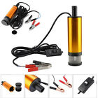 12V Aluminum Alloy Submersible Pump 38mm Water Oil Diesel Fuel Transfer 12 L min