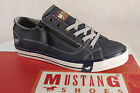 Mustang Lace Up Sneakers Low Shoes Trainers Blue 1146 NEW