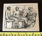Toybox Rubber Stamps Marble Relief Parthenon rubber stamp NEW