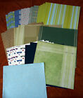 Scrapbooking 35 Paper Pages 12 X 12 Printed Blues Greens Browns A7 4