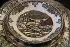 The Friendly Village by Johnson Brothers Set of 4 Round Bread & Butter Plates