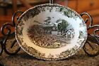 """Friendly Village Johnson Brothers The Village Green 9"""" Oval Vegetable Bowl"""