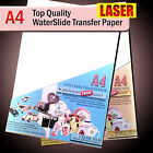Water Slide Decals WaterSlide Transfer Paper LASER A4 Clear or White Lot